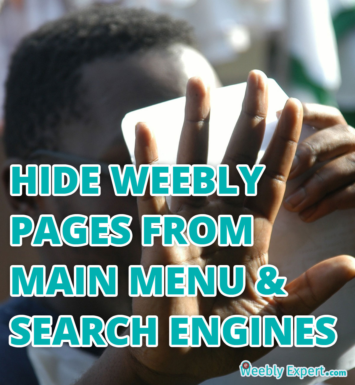hide weebly pages from navigation menu and search engines